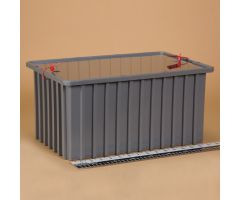 Divider Box with Security Seal Holes 1735 - Gray