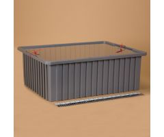 Divider Box with Security Seal Holes 1736 - Semi-Clear