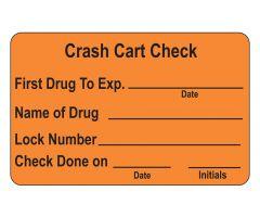Crash Cart Check Labels