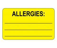 Allergies Labels