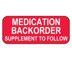 Medication Backorder Labels