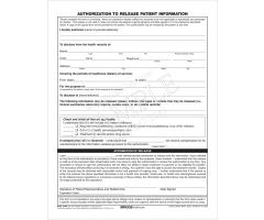 Authorization to Release Patient Information Form