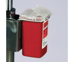 Sharps Container with Mounting Accessories for Phlebotomy Workstations