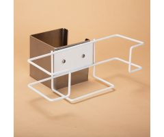 Wire Glove Box Holder with Mounting Accessories for Phlebotomy