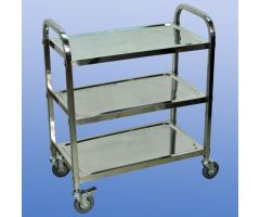 Stainless Steel Light Duty Cart, 3-Shelf