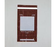 Self-Sealing Tamper-Indicating Bags, Amber, 6-1/2 x 10