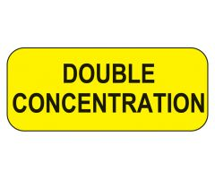Double Concentration Labels