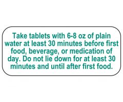 Take Tablets Labels