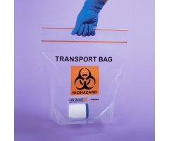 Biohazard Transport Bags, 12-3/4 x 12 x 6