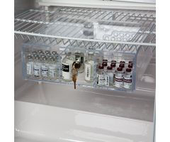 Non-Tilting Refrigerator Box with Key Lock