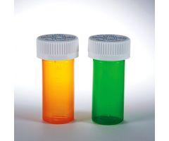 Dual Purpose Vials with Child-Resistant Caps, 11 dram/30mL - Green