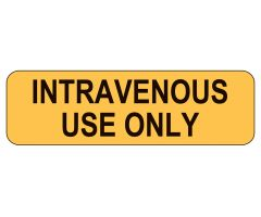 intravenous Use Only Labels
