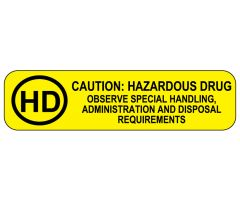 HD Caution: Hazardous Drug Labels
