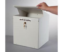 """Lockable Return Drop Box, 1-3/4"""" opening, 1 Key Lock"""