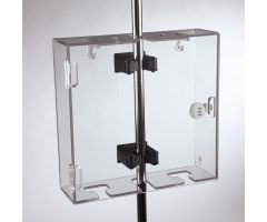 Double Lock-to-Pole IV Lock Box, Dial Combination Lock