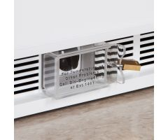 Lockable Thermostat Cover for Locking Refrigerator