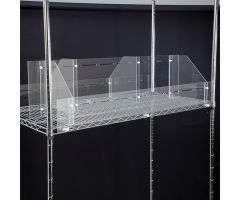 Divider System for Wire Shelving