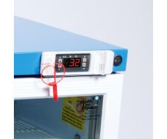 Lockable Thermostat Cover for Vaccine Refrigerator