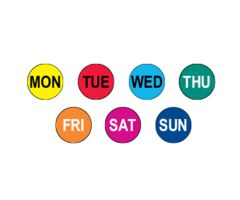 7 Days of the Week Circle Label Kit