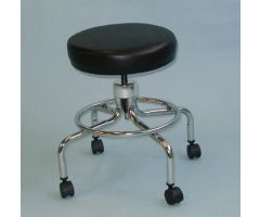 Classic Doctors Stool W/O Back W/ Foot Ring & Casters