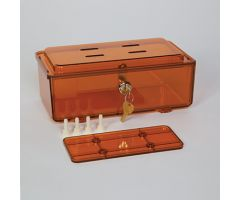 Amber Rugged Refrigerator Box, Key Lock