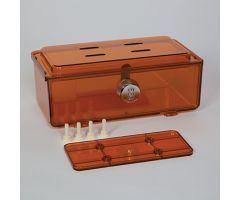 Amber Rugged Refrigerator Box, Dial Combination Lock