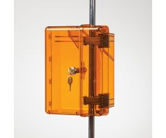 Lock-To-Pole IV Lock Box with Key Lock, Amber