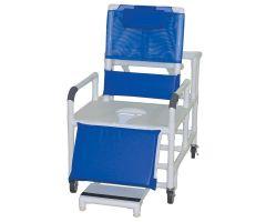 "Bariatric reclining shower chair, 30"" internal width"