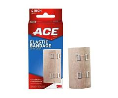 "3M ACE Elastic Bandage, with Metal Clips, 4""x 5 yds Stretched"