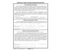 HBV Vaccine Consent/Declination Form