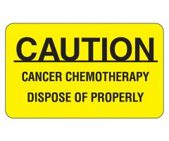 Caution Cancer Chemotherapy Labels