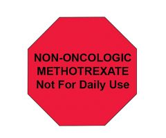 NON-ONCOLOGIC METHOTREXATE Stop Sign Labels