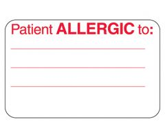 Patient Allergic To Labels