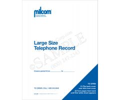 Milcom Large Telephone Message Book (2-Part)
