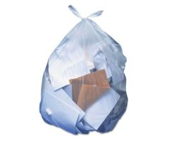Trash Bag Heritage 60 gal. Clear LLDPE 1.10 Mil. 38 X 58 Inch Performance Bottom Seal Flat Pack