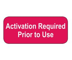 Activation Required Prior to Use Labels