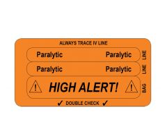 IV Line Tracing Piggyback Labels, Paralytic