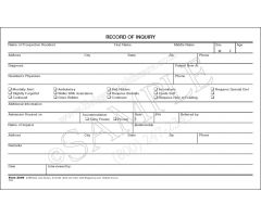 Assisted Living Record of Inquiry Form