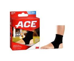 "3M ACE Elasto-Preene Ankle Brace, Small/Medium (6.5""to 9""), Black"
