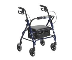 Drive Medical Junior Rollator w/ Padded Seat-Blue