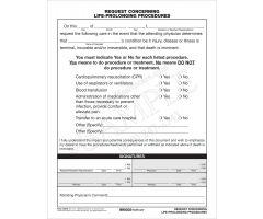 Request Concerning Life-Prolonging Procedures
