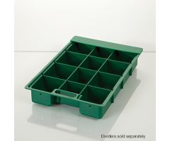 Half-Size Colored Crash Cart Box with Built-In Handle and Clear Slide-In Lid