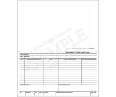 Treatment Card / Care Plan Form - 3209