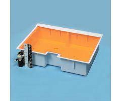 "Deep Crash Cart Box w/ Amber Slide-In Lid, 4-3/4""H"