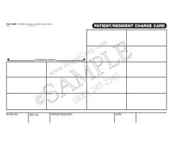 Patient/Resident Charge Card Label Form 3220