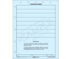 Telephone Orders Mount Sheet 3246P