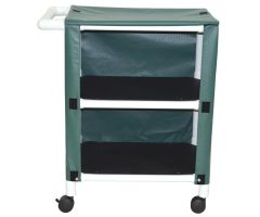 2-shelf mini-linen cart with mesh or solid vinyl cover