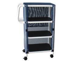 3-shelf mini-linen cart with mesh or solid vinyl cover