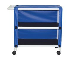 2-shelf utility / linen cart with mesh or solid vinyl cover