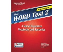The WORD Test 2 Adolescent